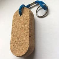 Floating Cork Key Ring Oval